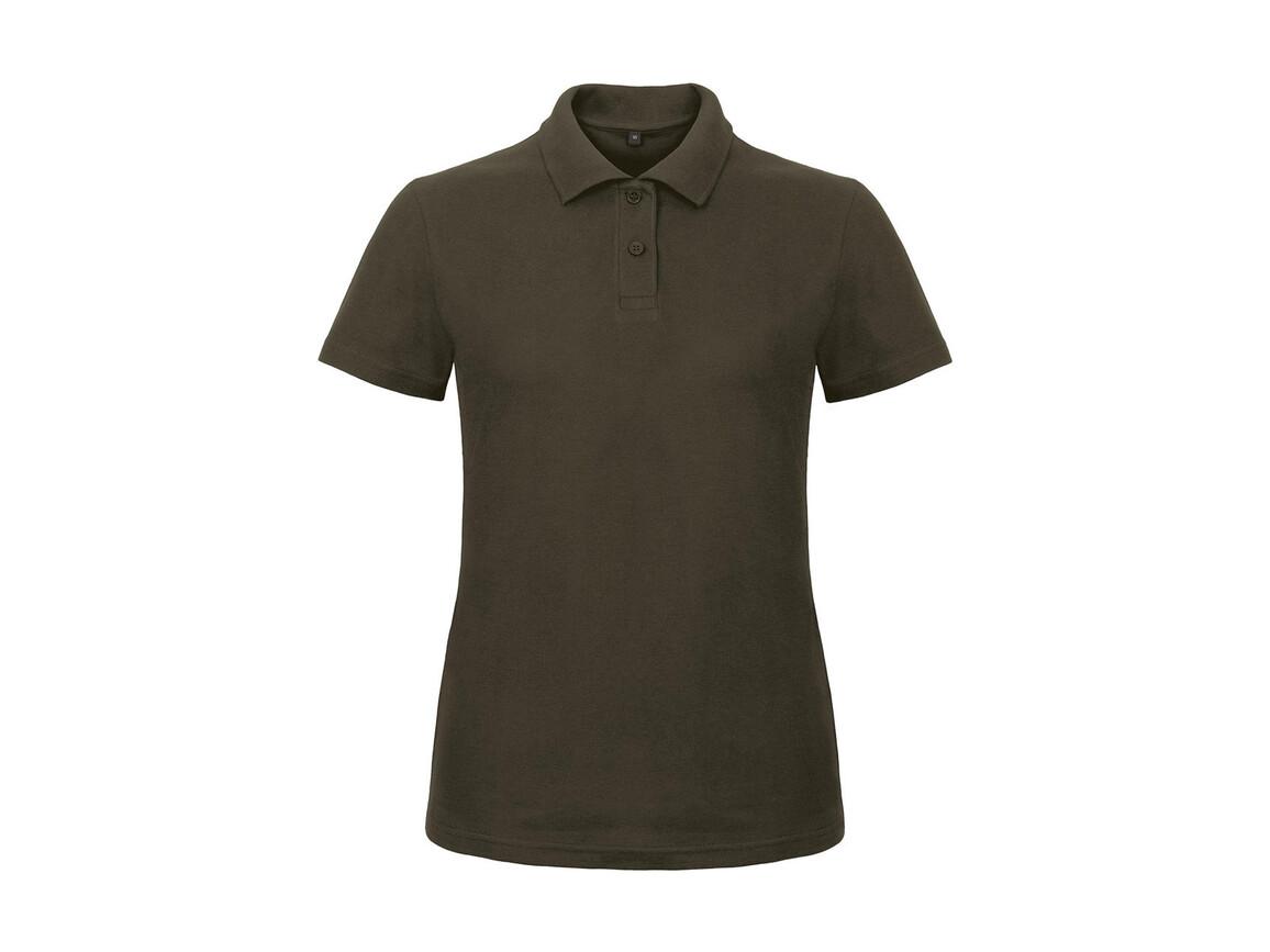 B & C ID.001/women Piqué Polo Shirt, Brown, L bedrucken, Art.-Nr. 547427005