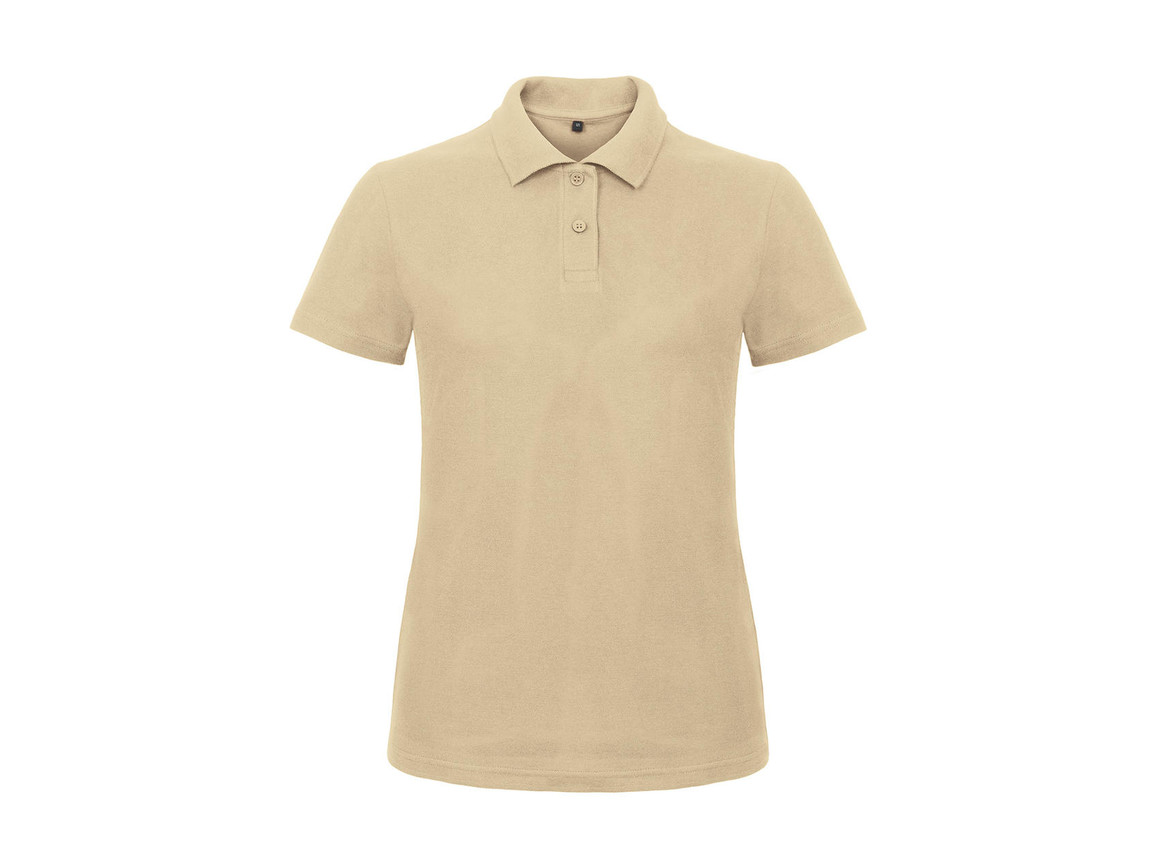 B & C ID.001/women Piqué Polo Shirt, Sand, 2XL bedrucken, Art.-Nr. 547427417