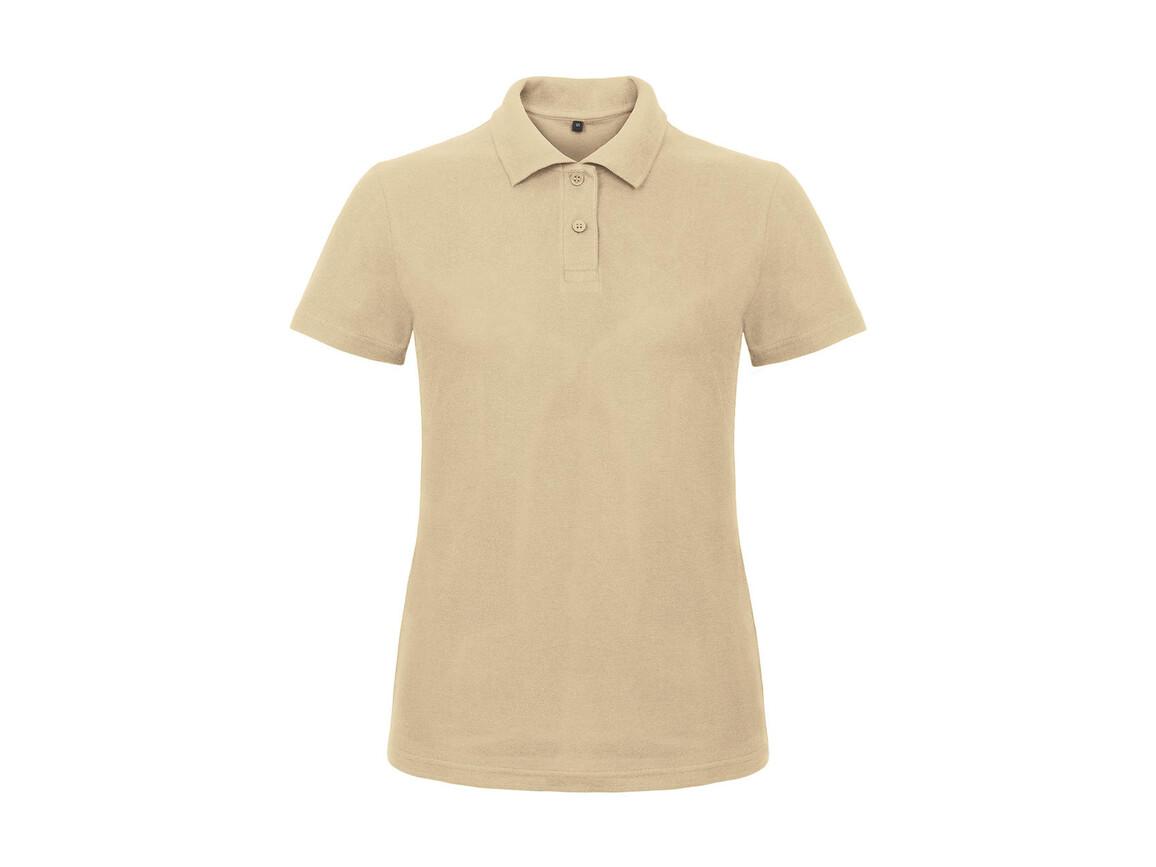 B & C ID.001/women Piqué Polo Shirt, Sand, M bedrucken, Art.-Nr. 547427414
