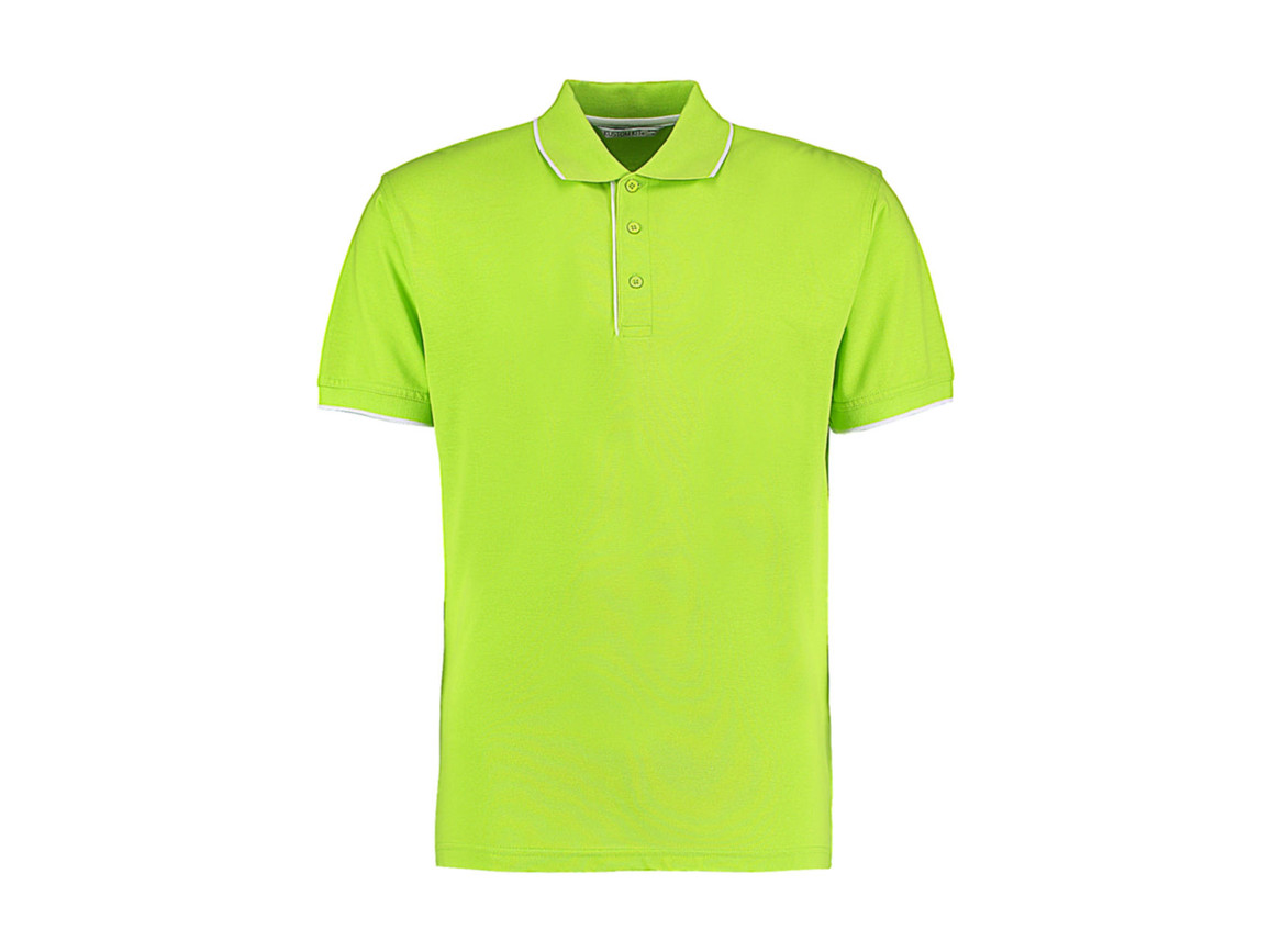Kustom Kit Classic Fit Essential Polo, Lime/White, M bedrucken, Art.-Nr. 548115504