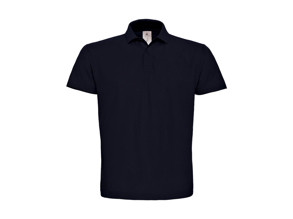 B & C ID.001 Piqué Polo Shirt, Navy, L bedrucken, Art.-Nr. 548422005