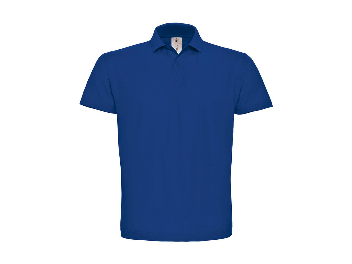 B & C ID.001 Piqué Polo Shirt, Royal, 4XL bedrucken, Art.-Nr. 548423009