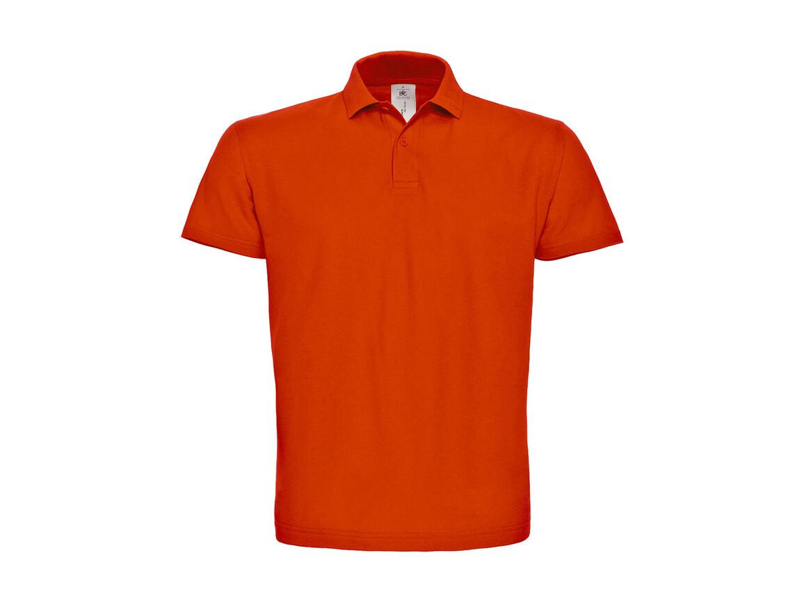 B & C ID.001 Piqué Polo Shirt, Orange, M bedrucken, Art.-Nr. 548424104