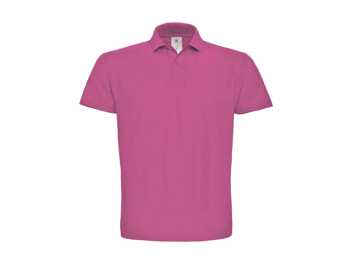 B & C ID.001 Piqué Polo Shirt, Fuchsia, M bedrucken, Art.-Nr. 548424184