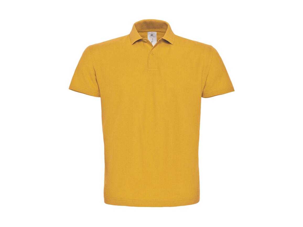 B & C ID.001 Piqué Polo Shirt, Chili Gold, XS bedrucken, Art.-Nr. 548426132