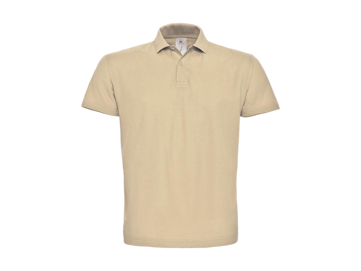 B & C ID.001 Piqué Polo Shirt, Sand, XS bedrucken, Art.-Nr. 548427412