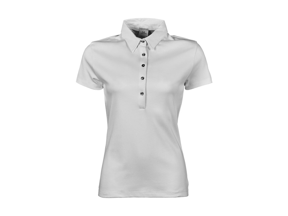 Tee Jays Ladies` Pima Cotton Polo, White, S bedrucken, Art.-Nr. 585540003