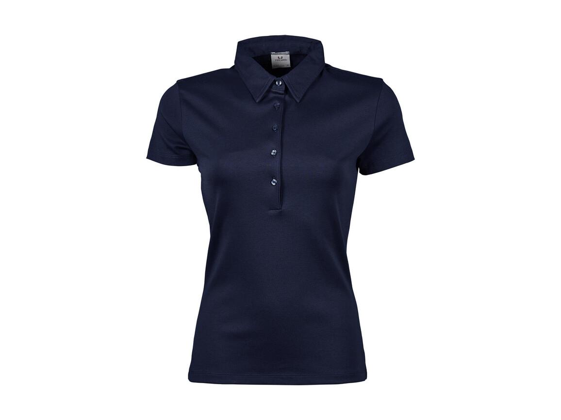 Tee Jays Ladies` Pima Cotton Polo, Navy, S bedrucken, Art.-Nr. 585542003