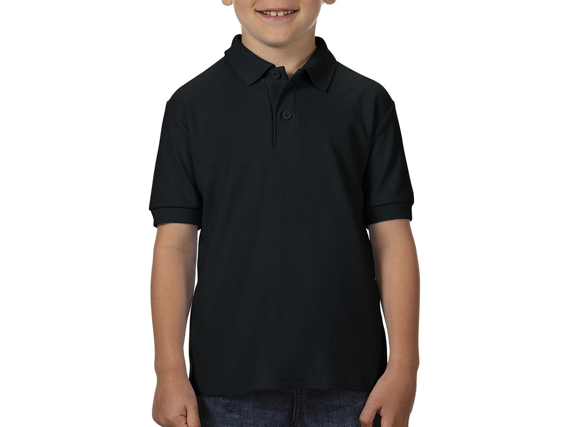 Gildan DryBlend® Youth Double Piqué Polo, Black, XL (176) bedrucken, Art.-Nr. 587091016