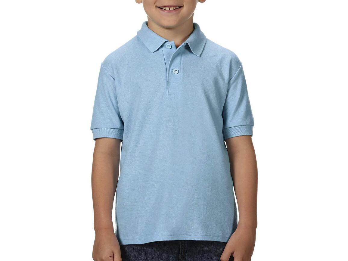 Gildan DryBlend® Youth Double Piqué Polo, Light Blue, XL (176) bedrucken, Art.-Nr. 587093216