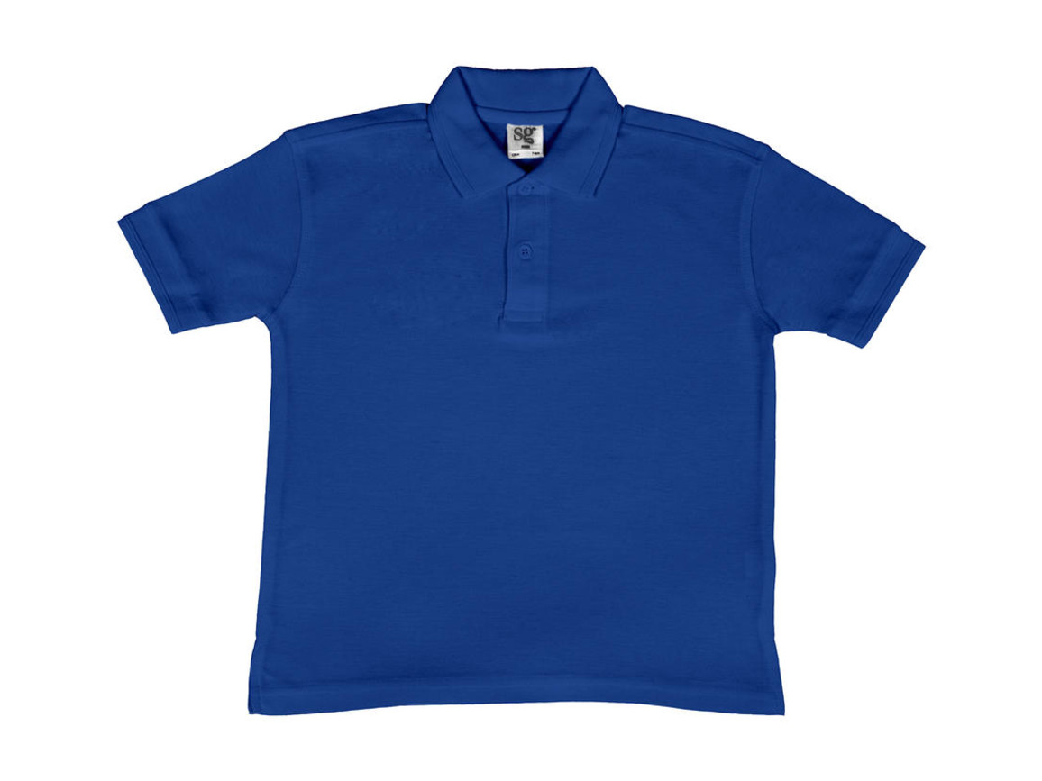SG Kids` 65/35 Blended Polo, Royal Blue, 140 (9-10/XL) bedrucken, Art.-Nr. 587523006