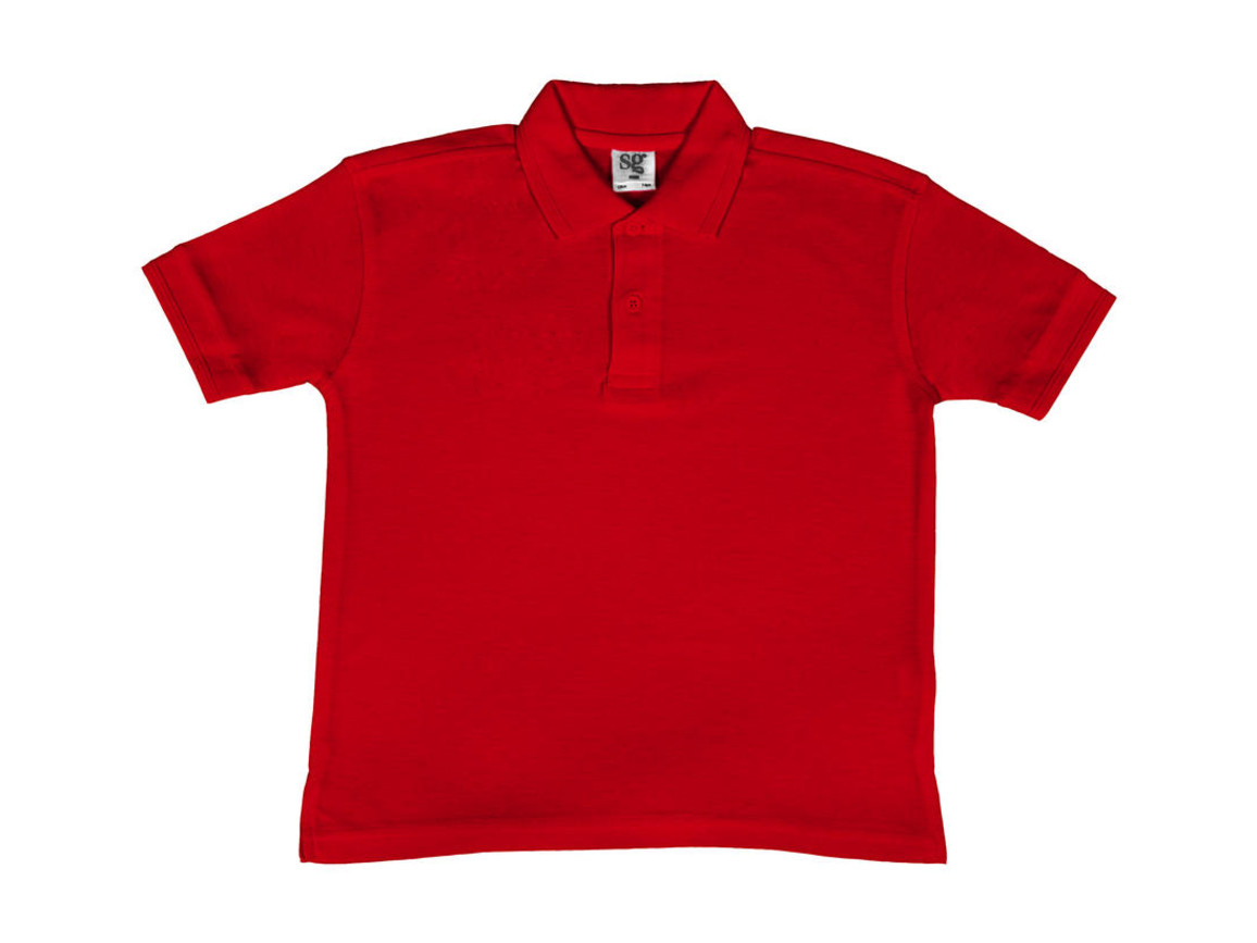 SG Kids` 65/35 Blended Polo, Red, 152 (11-12/2XL) bedrucken, Art.-Nr. 587524007
