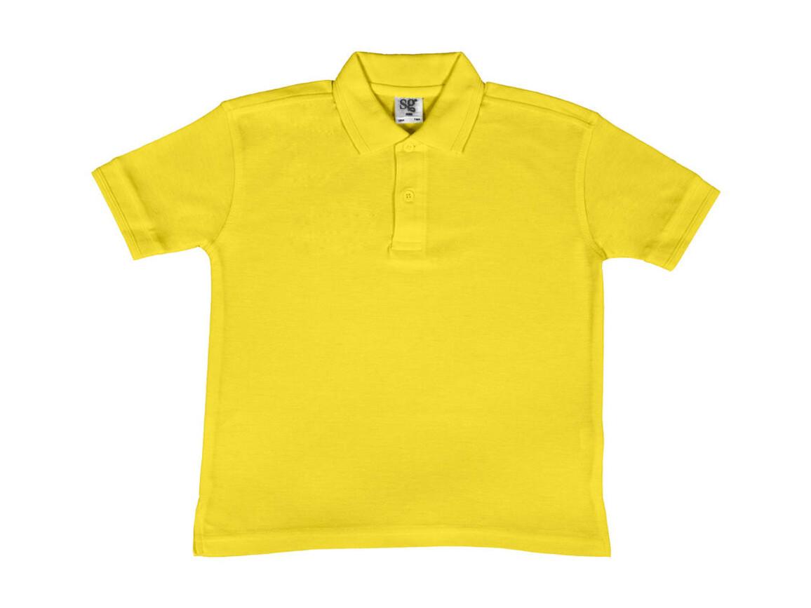 SG Kids` 65/35 Blended Polo, Yellow, 128 (7-8/L) bedrucken, Art.-Nr. 587526005