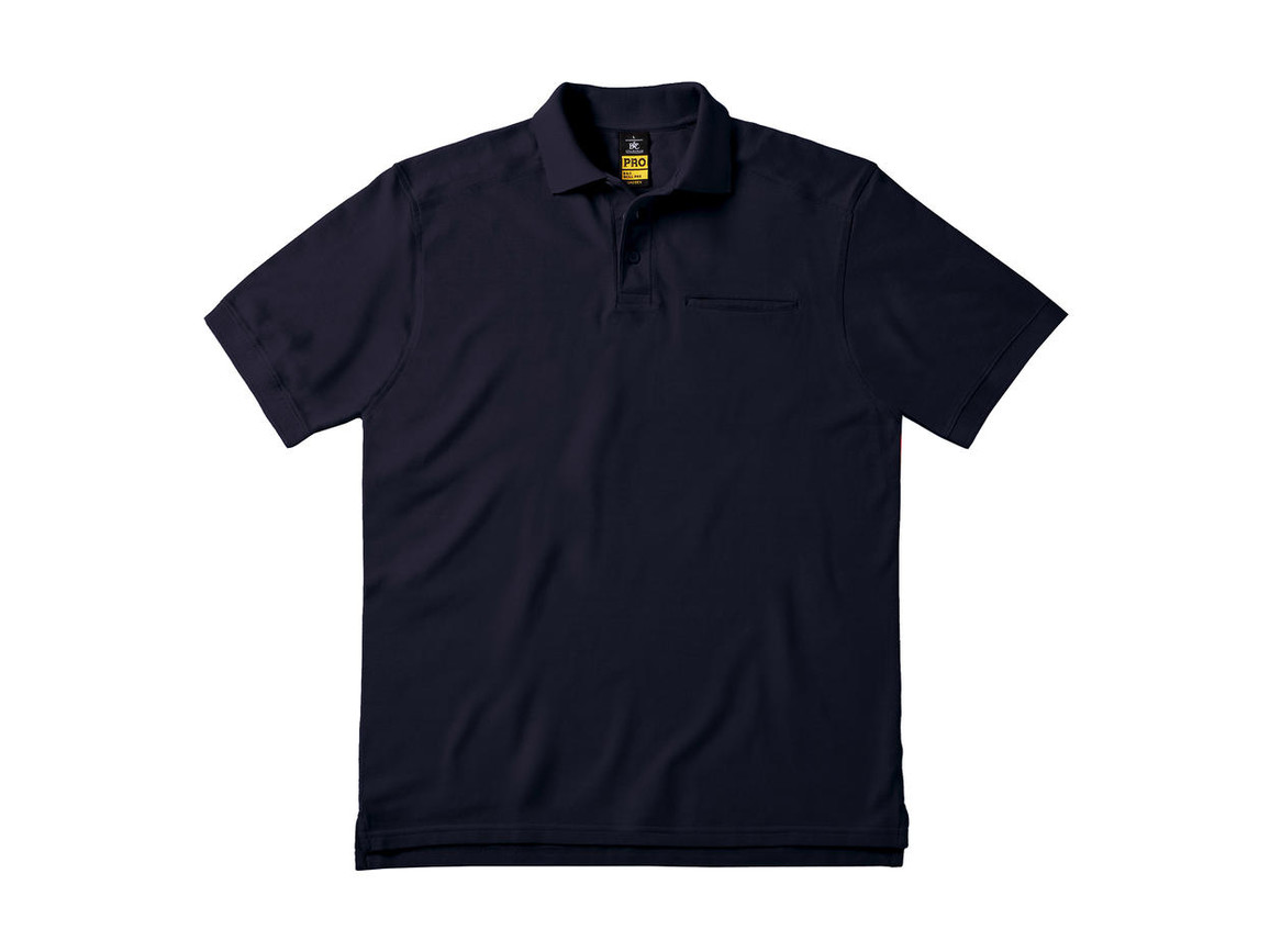 B & C Skill Pro Workwear Pocket Polo, Navy, M bedrucken, Art.-Nr. 590422004
