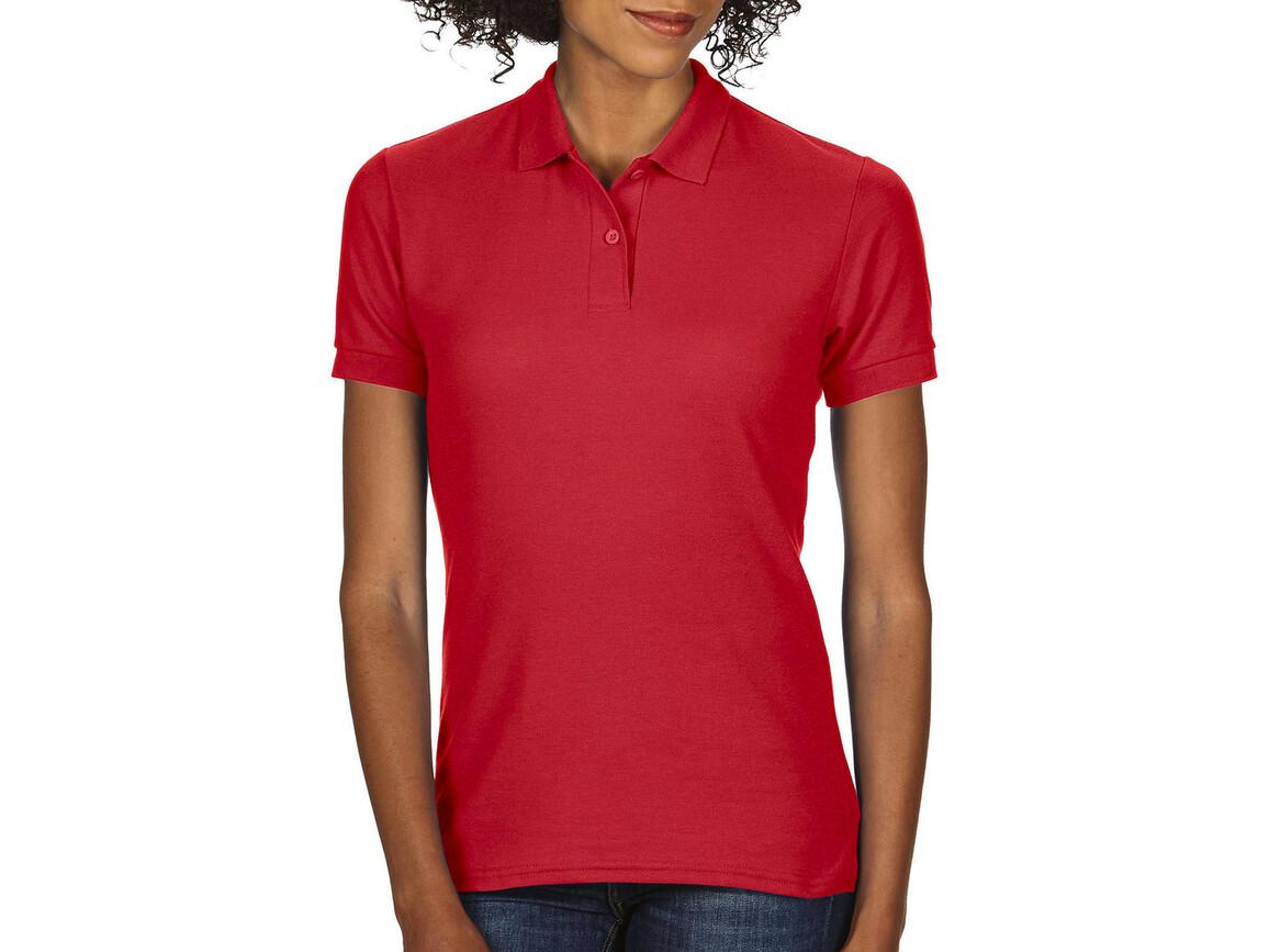 Gildan DryBlend® Ladies` Double Piqué Polo, Red, L bedrucken, Art.-Nr. 593094005