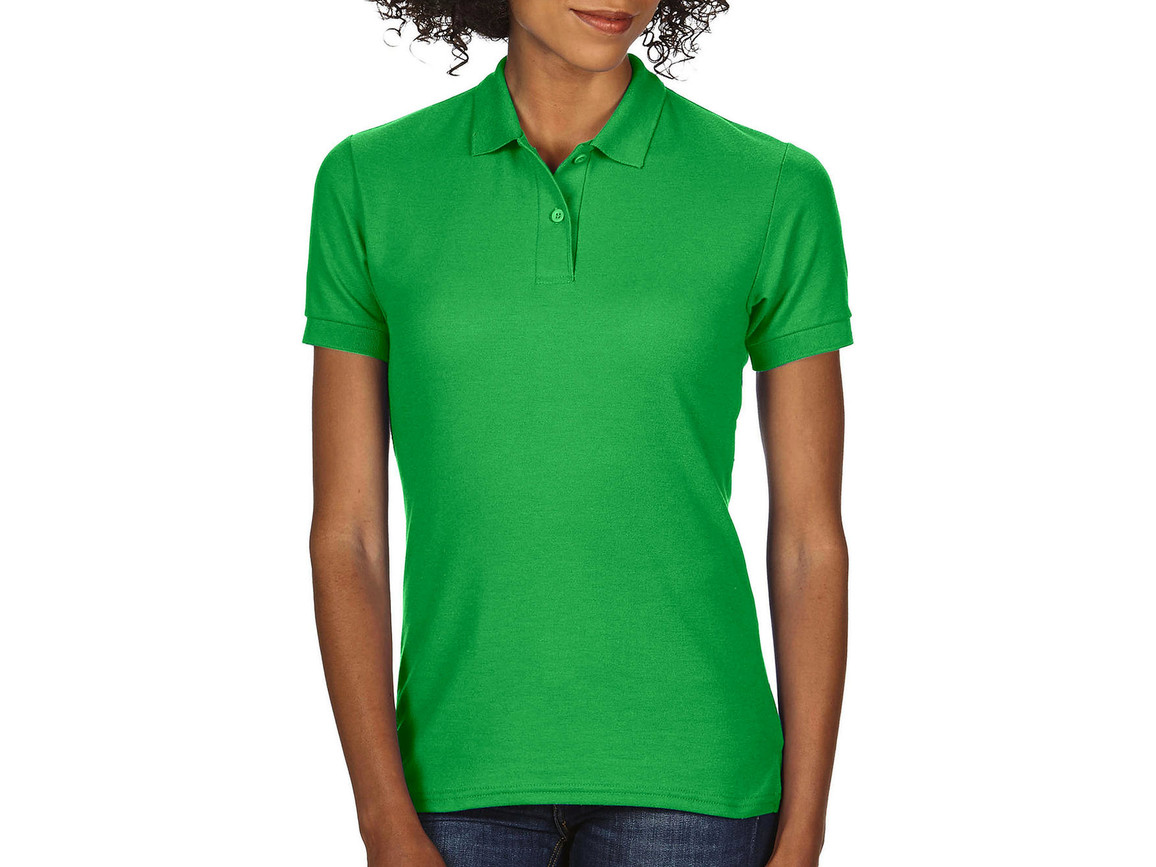 Gildan DryBlend® Ladies` Double Piqué Polo, Irish Green, L bedrucken, Art.-Nr. 593095095