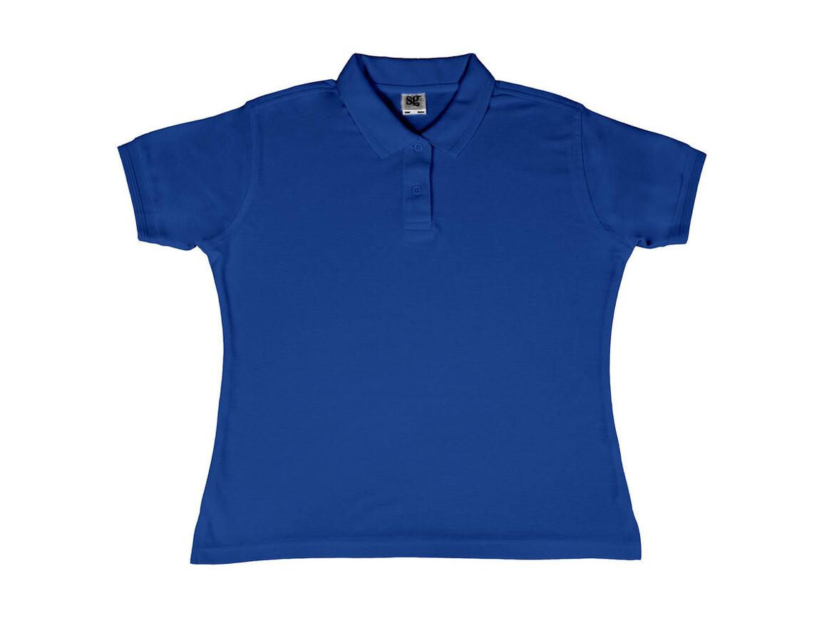 SG Ladies` Poly Cotton Polo, Royal Blue, S bedrucken, Art.-Nr. 593523003