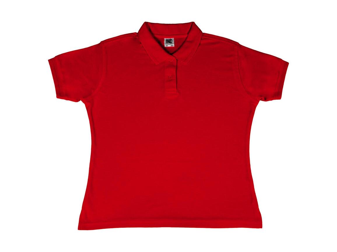 SG Ladies` Poly Cotton Polo, Red, M bedrucken, Art.-Nr. 593524004
