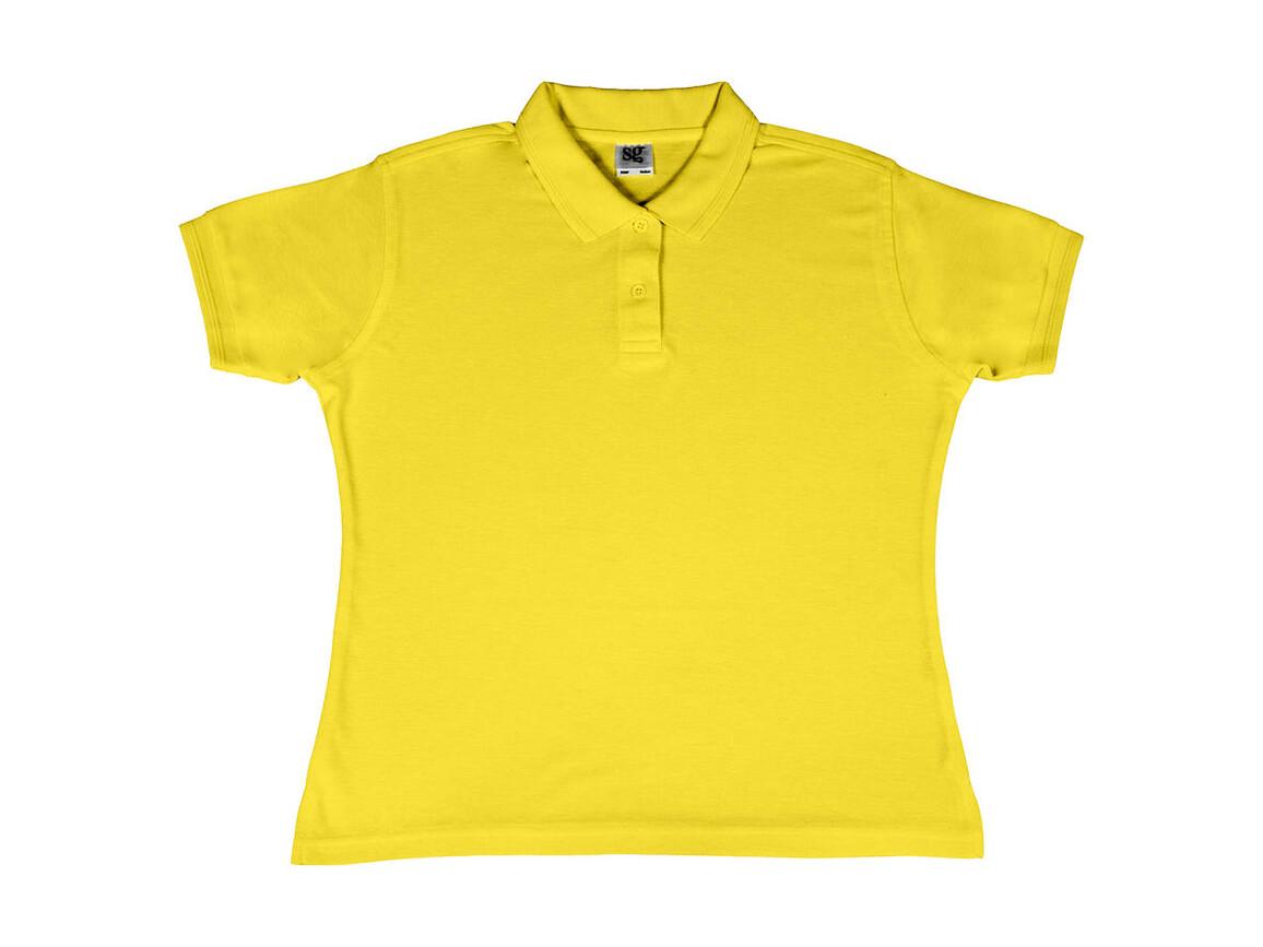 SG Ladies` Poly Cotton Polo, Yellow, 2XL bedrucken, Art.-Nr. 593526007