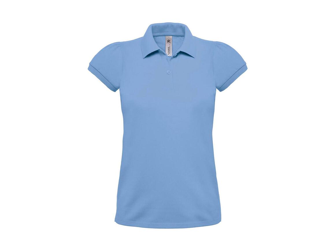 B & C Heavymill/women Polo, Sky Blue, XL bedrucken, Art.-Nr. 595423206