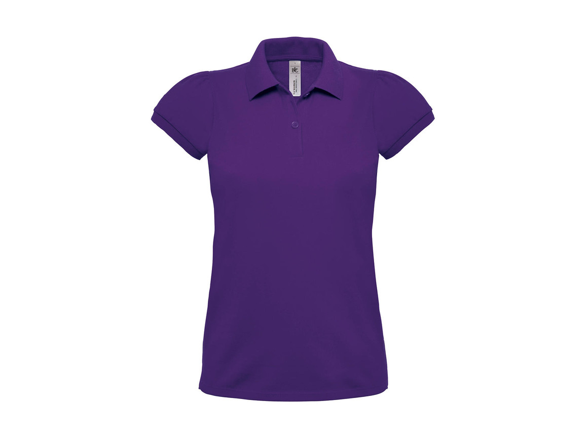 B & C Heavymill/women Polo, Purple, XS bedrucken, Art.-Nr. 595423492