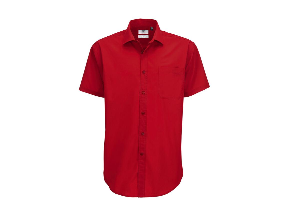 B & C Smart SSL/men Poplin Shirt, Deep Red, S bedrucken, Art.-Nr. 727424063