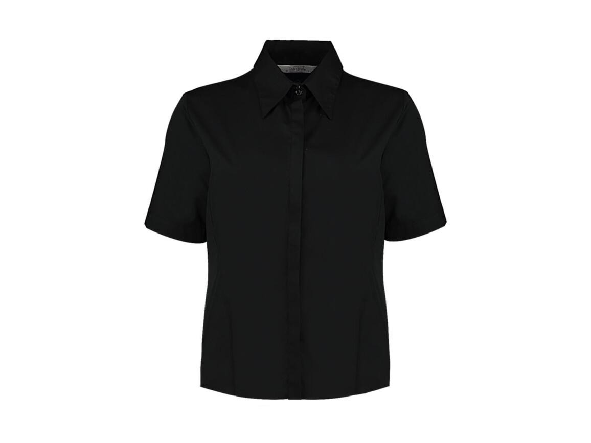 Kustom Kit Women`s Tailored Fit Shirt SSL, Black, XS bedrucken, Art.-Nr. 748111011