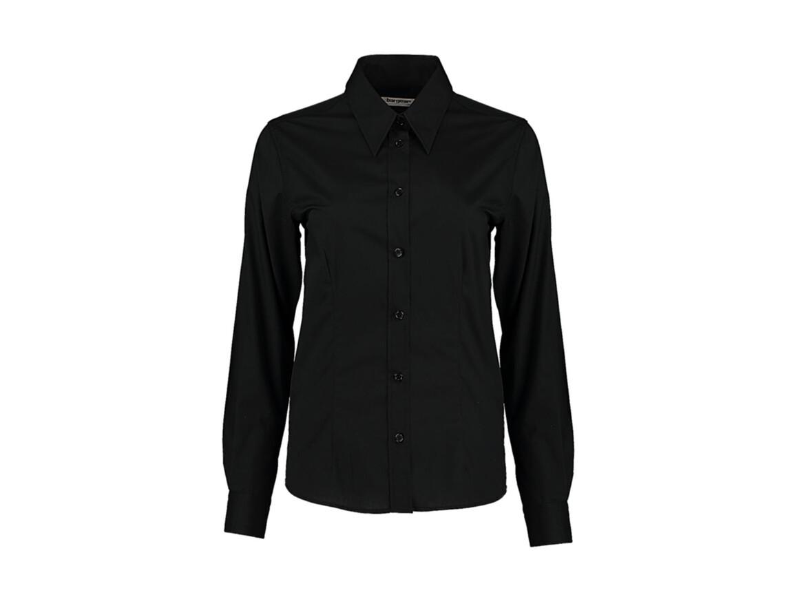 Kustom Kit Women`s Tailored Fit Shirt, Black, 2XL bedrucken, Art.-Nr. 751111016