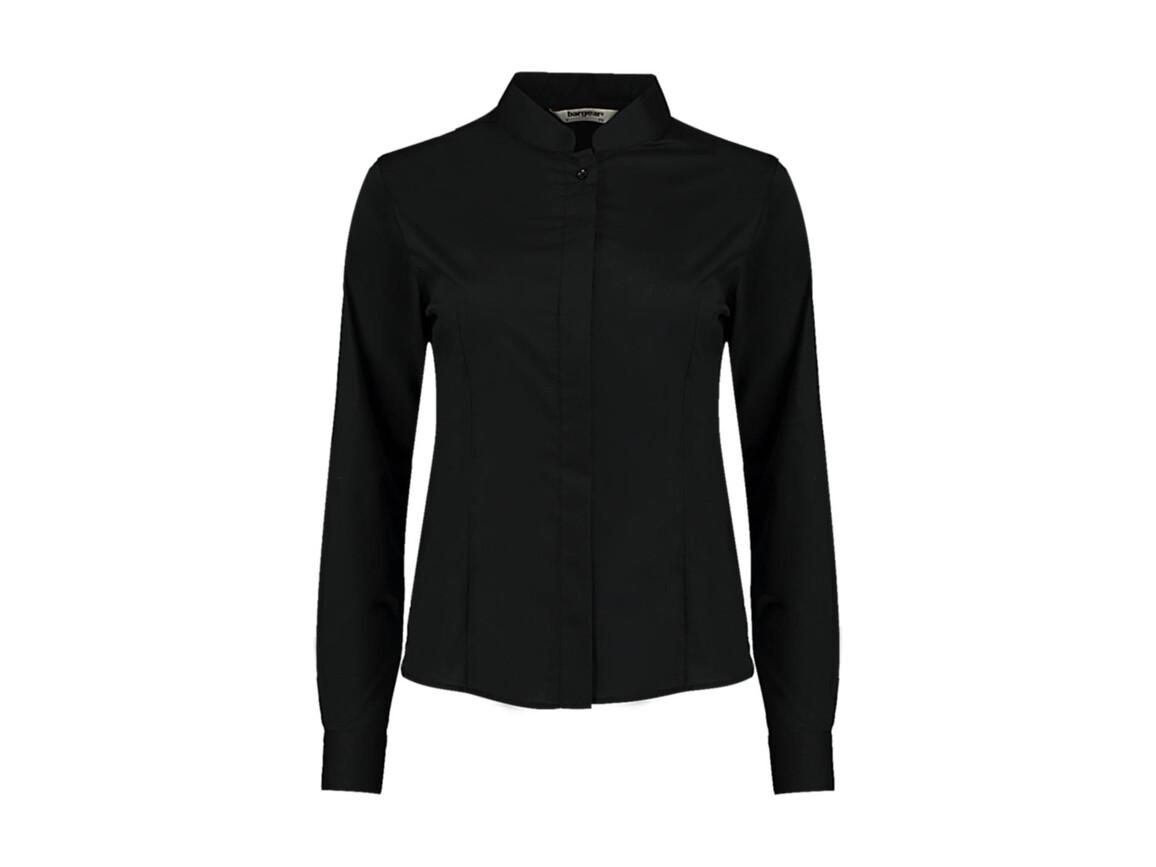 Kustom Kit Women`s Tailored Fit Mandarin Collar Shirt, Black, XS bedrucken, Art.-Nr. 759111011
