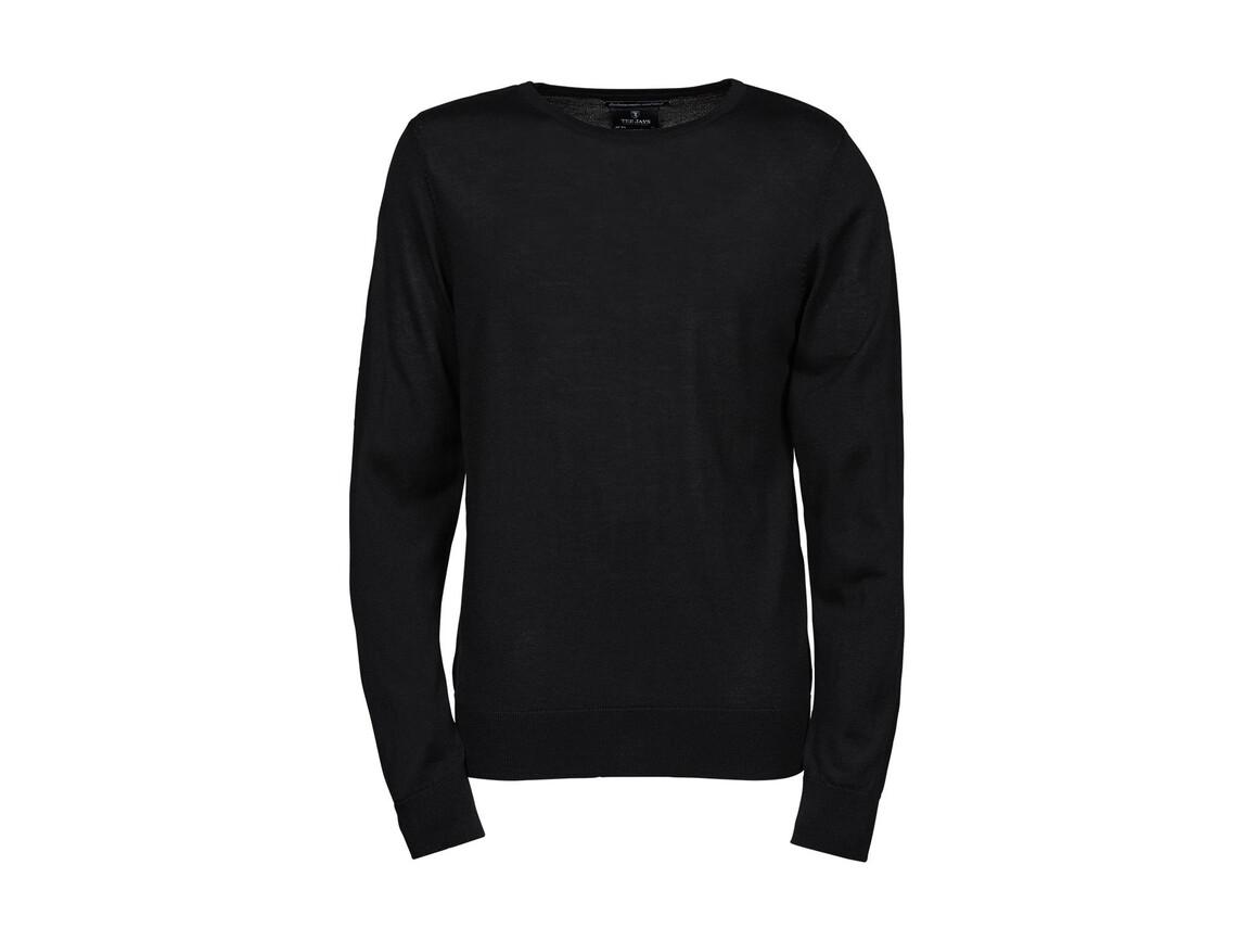 Tee Jays Men`s Crew Neck Sweater, Black, 2XL bedrucken, Art.-Nr. 763541017