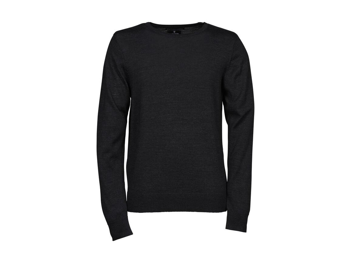 Tee Jays Men`s Crew Neck Sweater, Dark Grey, M bedrucken, Art.-Nr. 763541284