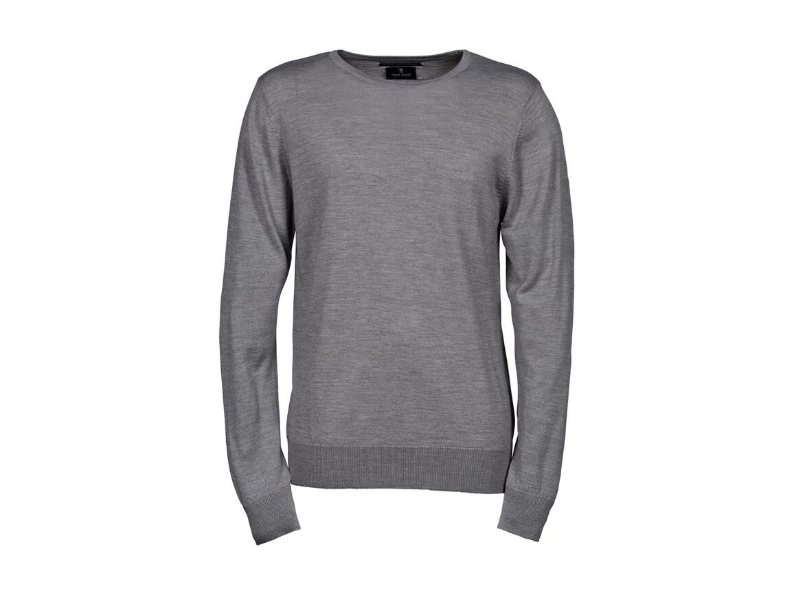 Tee Jays Men`s Crew Neck Sweater, Light Grey, 2XL bedrucken, Art.-Nr. 763541387