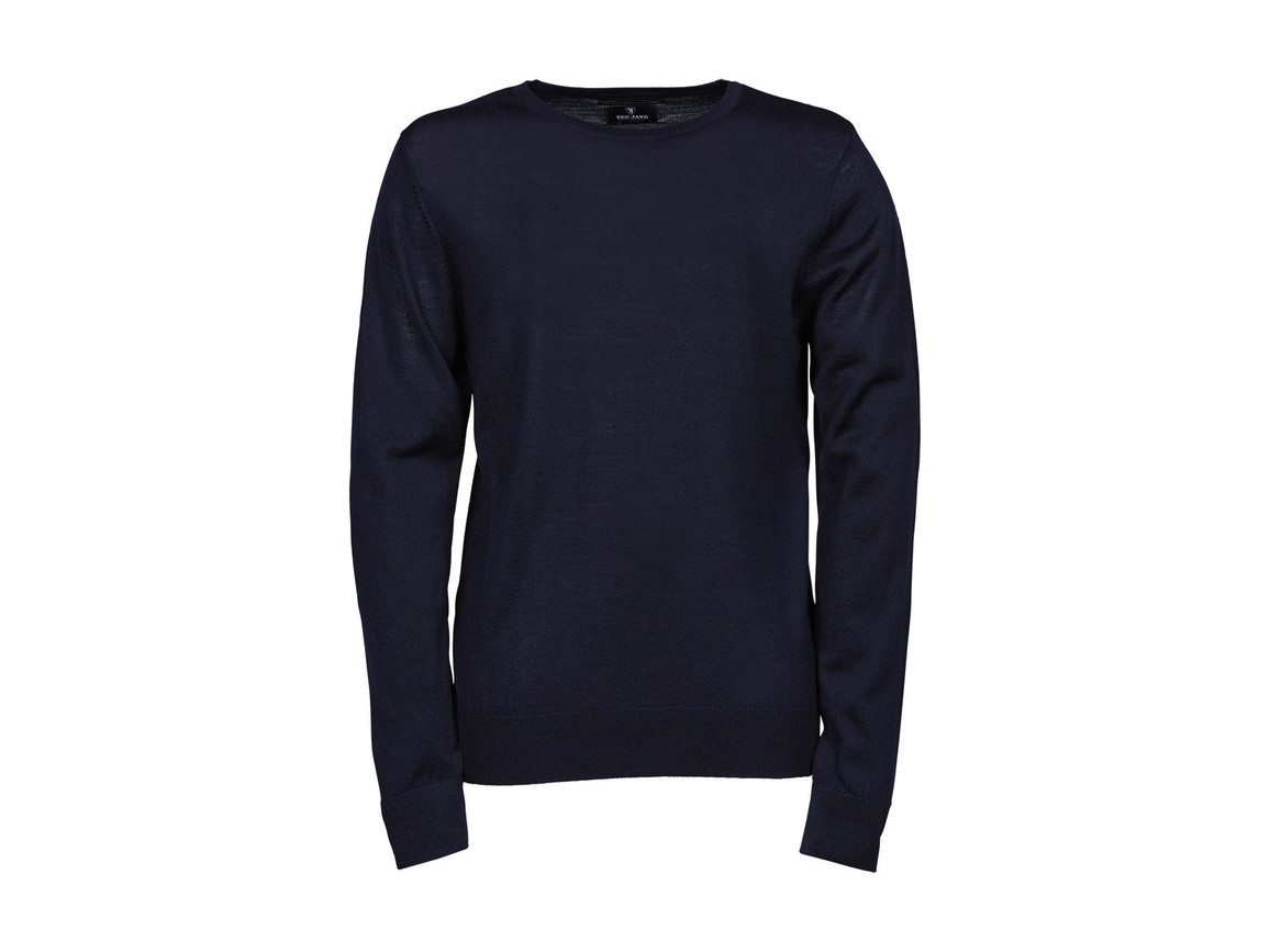 Tee Jays Men`s Crew Neck Sweater, Navy, 2XL bedrucken, Art.-Nr. 763542007