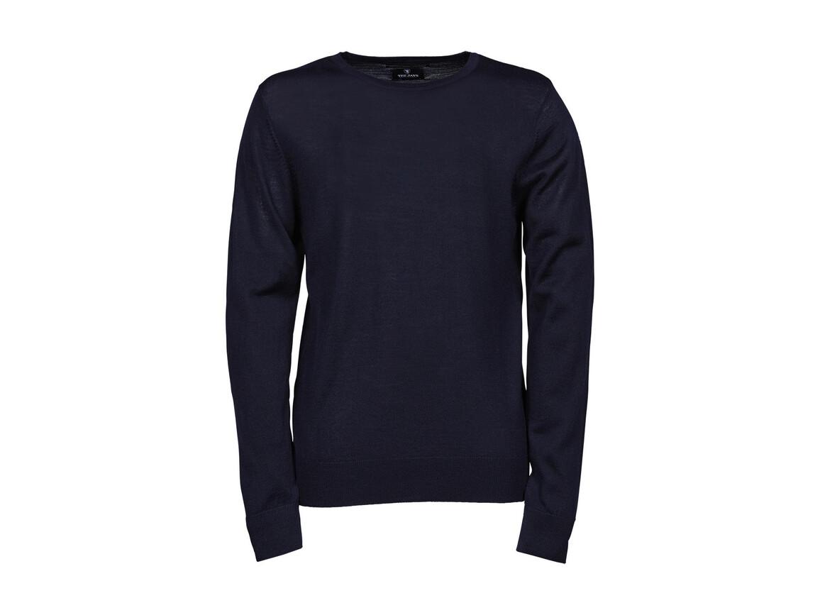 Tee Jays Men`s Crew Neck Sweater, Navy, M bedrucken, Art.-Nr. 763542004