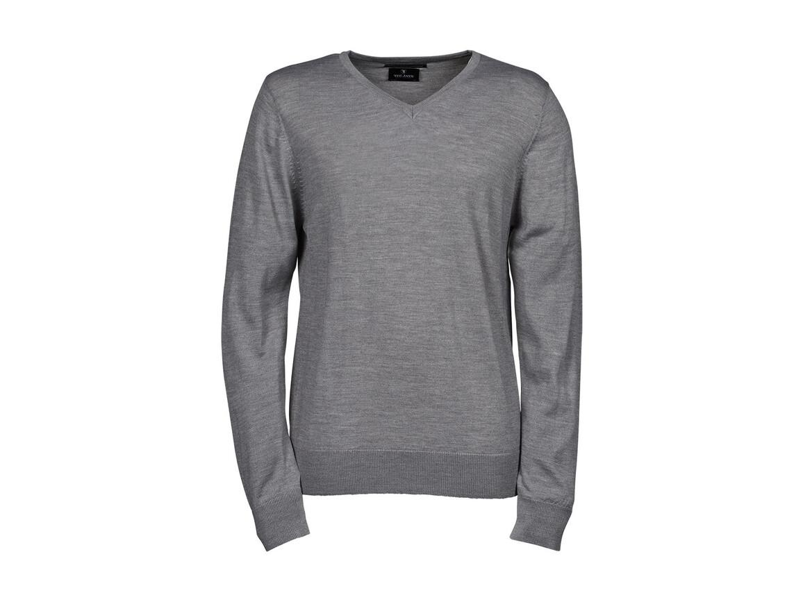 Tee Jays Men`s V-Neck Sweater, Light Grey, 2XL bedrucken, Art.-Nr. 764541387