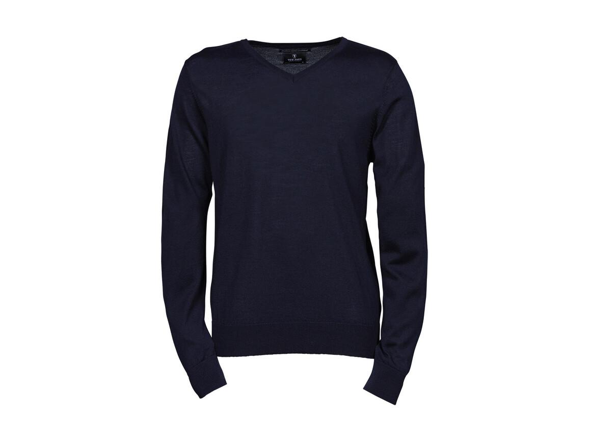 Tee Jays Men`s V-Neck Sweater, Navy, XL bedrucken, Art.-Nr. 764542006