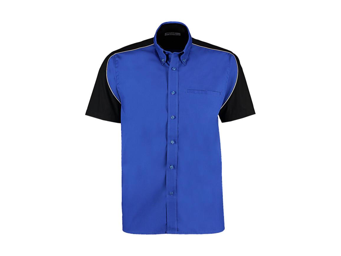 Kustom Kit Classic Fit Sebring Shirt SSL, Royal/Black/White, L bedrucken, Art.-Nr. 768113815