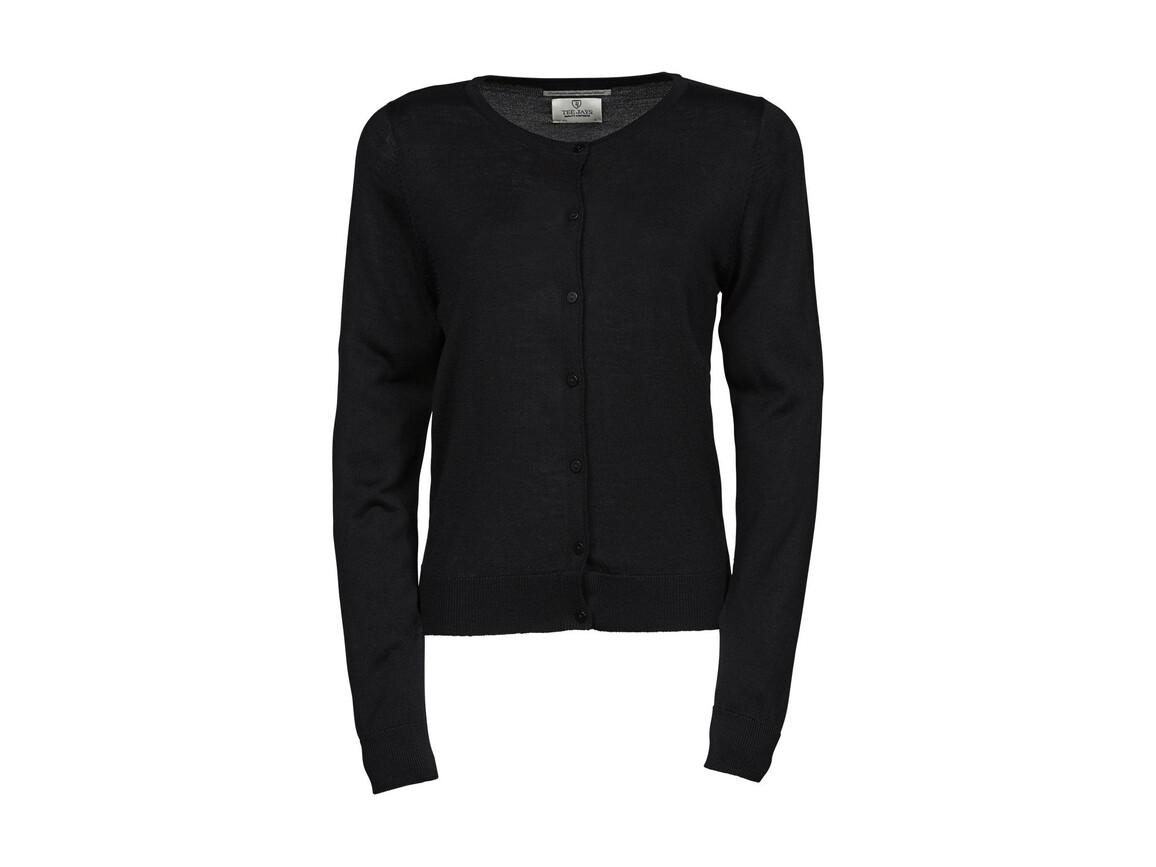 Tee Jays Ladies` Cardigan, Black, 2XL bedrucken, Art.-Nr. 774541017