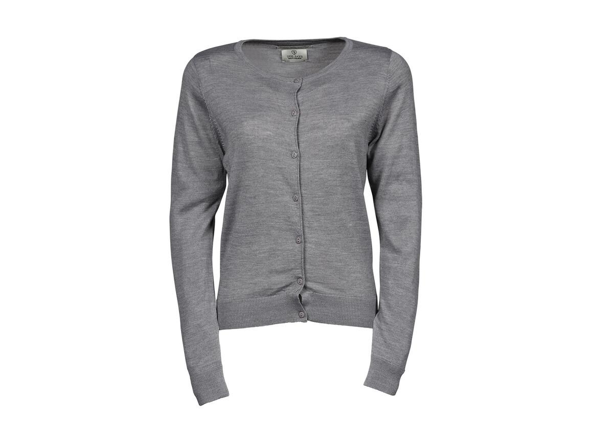 Tee Jays Ladies` Cardigan, Light Grey, M bedrucken, Art.-Nr. 774541384