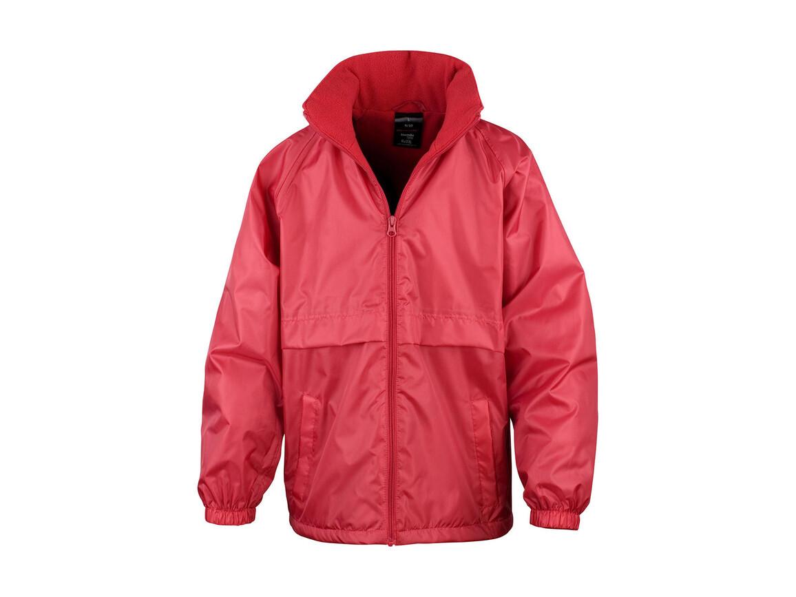 Result CORE Junior Microfleece Lined Jacket, Red, XS (3-4) bedrucken, Art.-Nr. 831334002