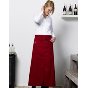 Bistro by JASSZ Berlin Long Bistro Apron with Vent and Pocket bedrucken, Art.-Nr. 94159