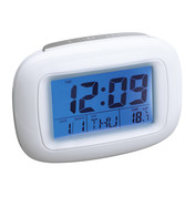Alarmuhr mit Thermometer REFLECTS-DILI WHITE bedrucken, Art.-Nr. 51800