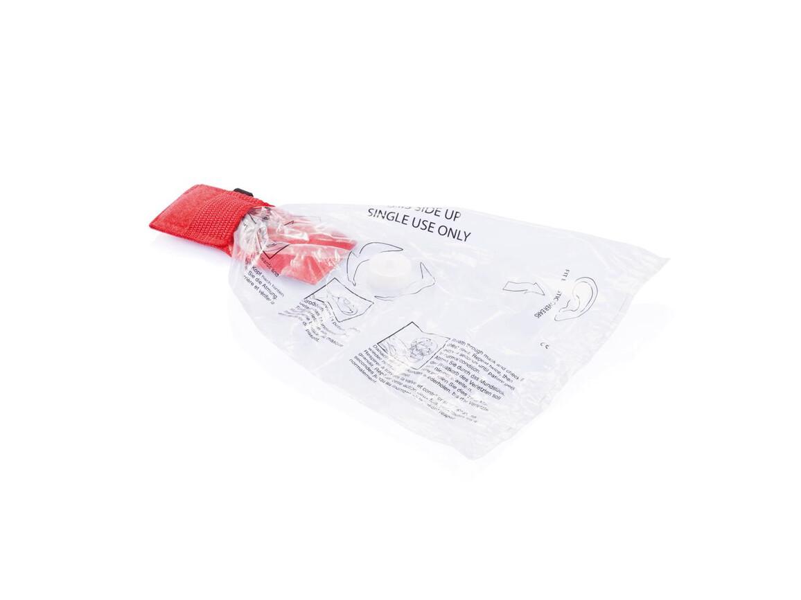 CPR Maske für den Schlüsselbund rot bedrucken, Art.-Nr. P265.244