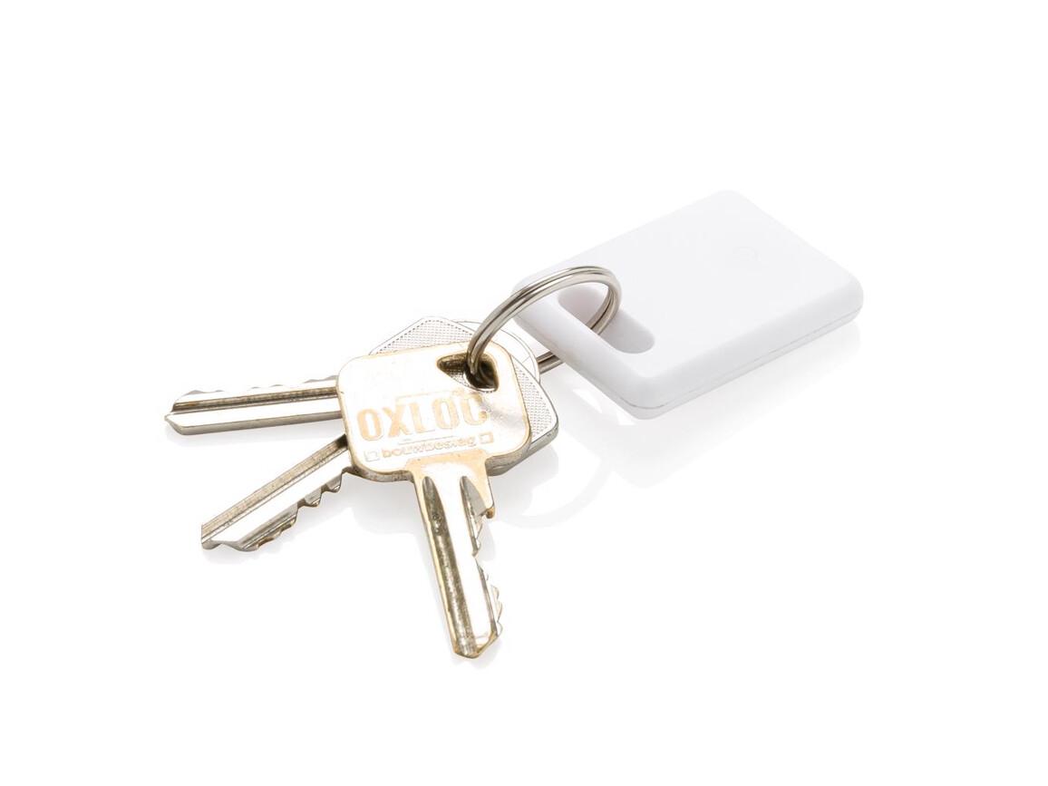 Square Schlüsselfinder 2.0 weiß bedrucken, Art.-Nr. P301.043