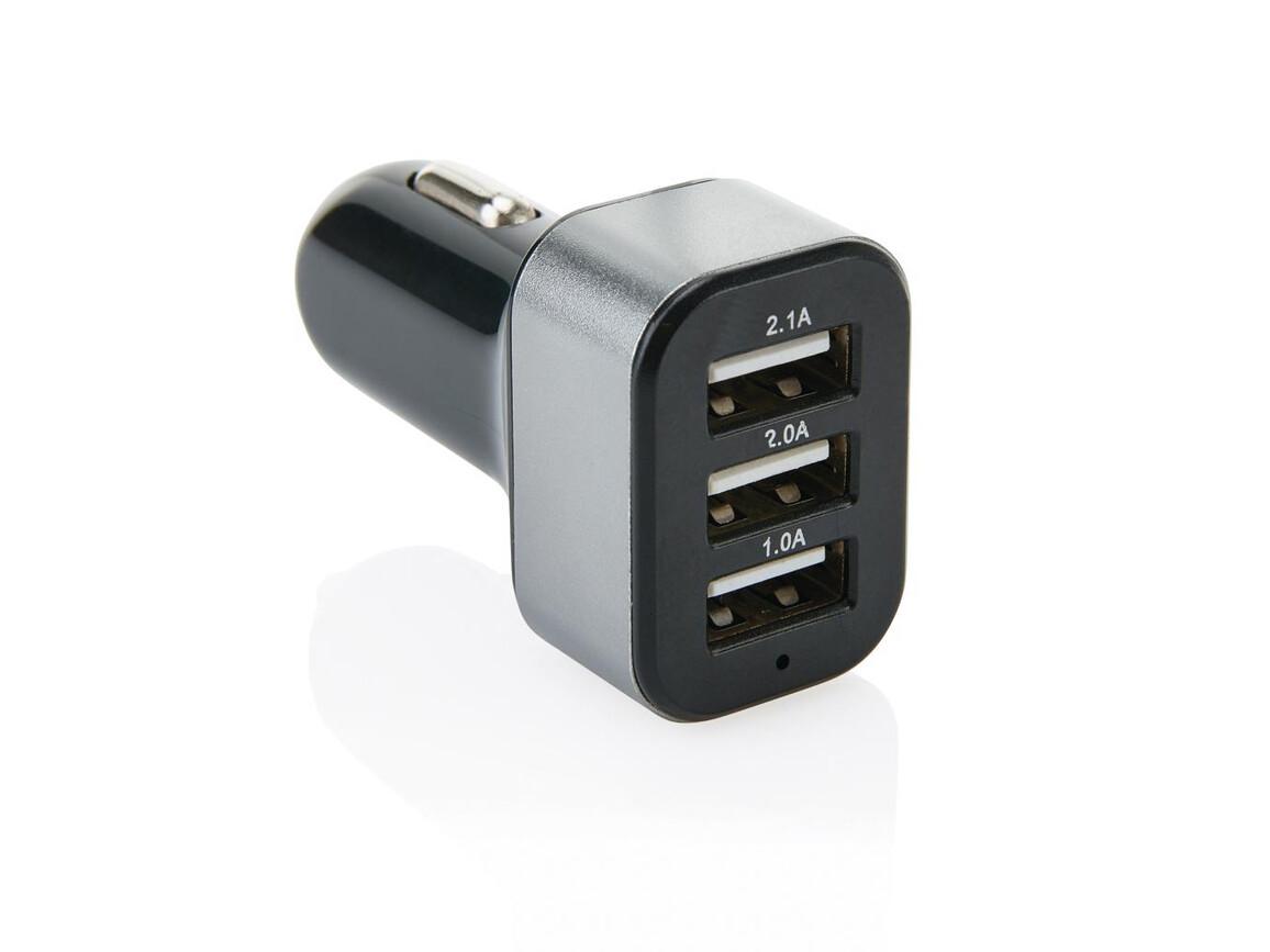 3.1A Auto Ladegerät mit 3 USB Anschlüssen bedrucken, Art.-Nr. P302.551