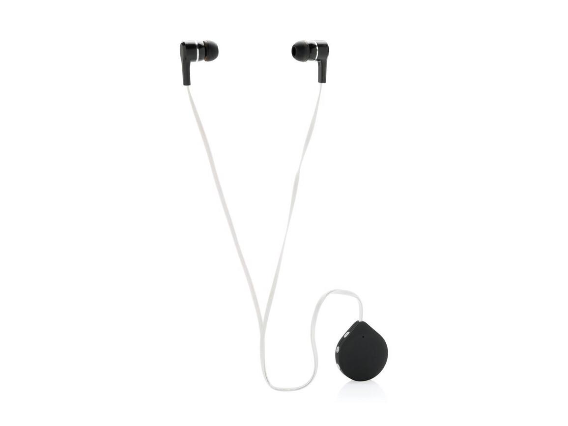 Wireless Kopfhörer mit Clip schwarz bedrucken, Art.-Nr. P326.571