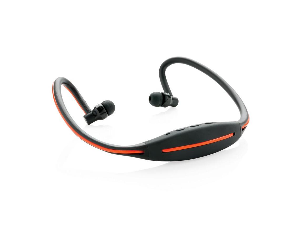 LED Sport-Kopfhörer schwarz bedrucken, Art.-Nr. P326.721