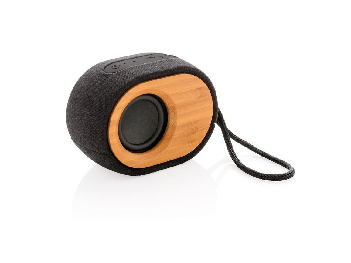 Bamboo X Lautsprecher schwarz, braun bedrucken, Art.-Nr. P328.009