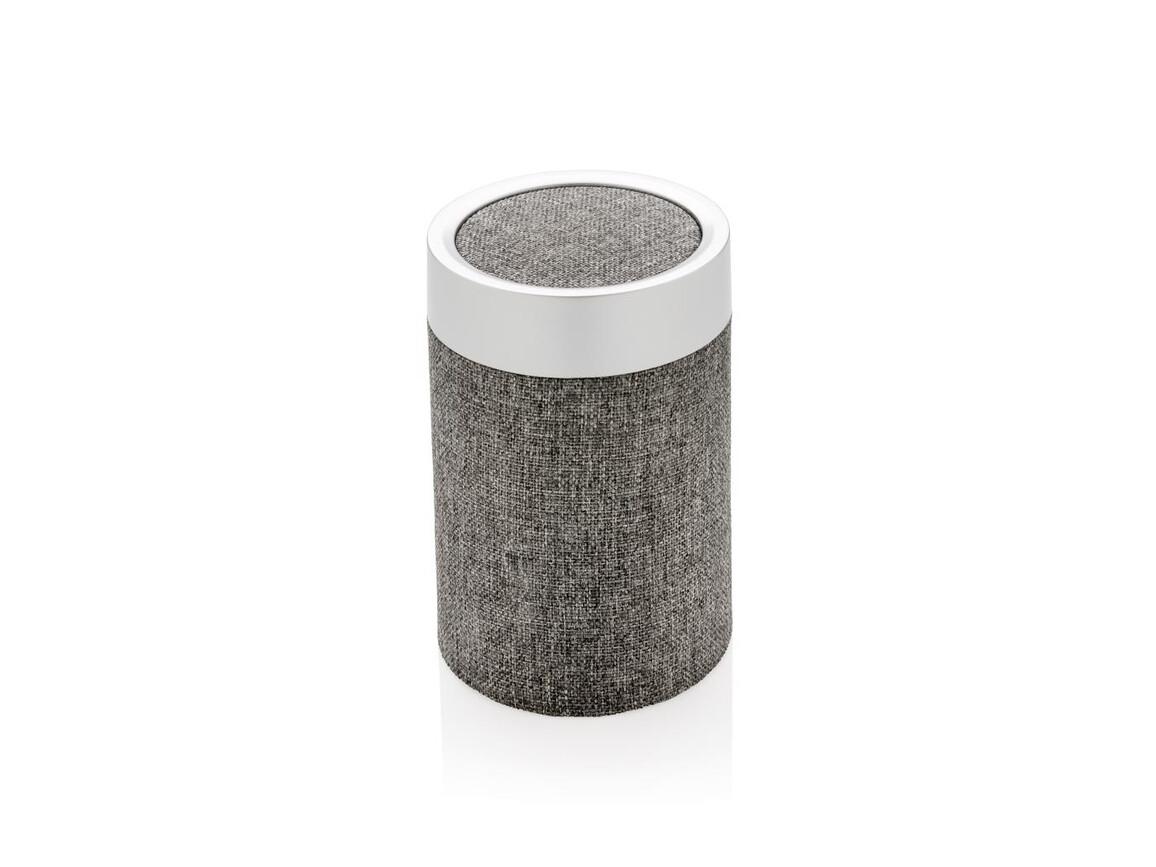 Vogue runder Lautsprecher grau, grau bedrucken, Art.-Nr. P328.103