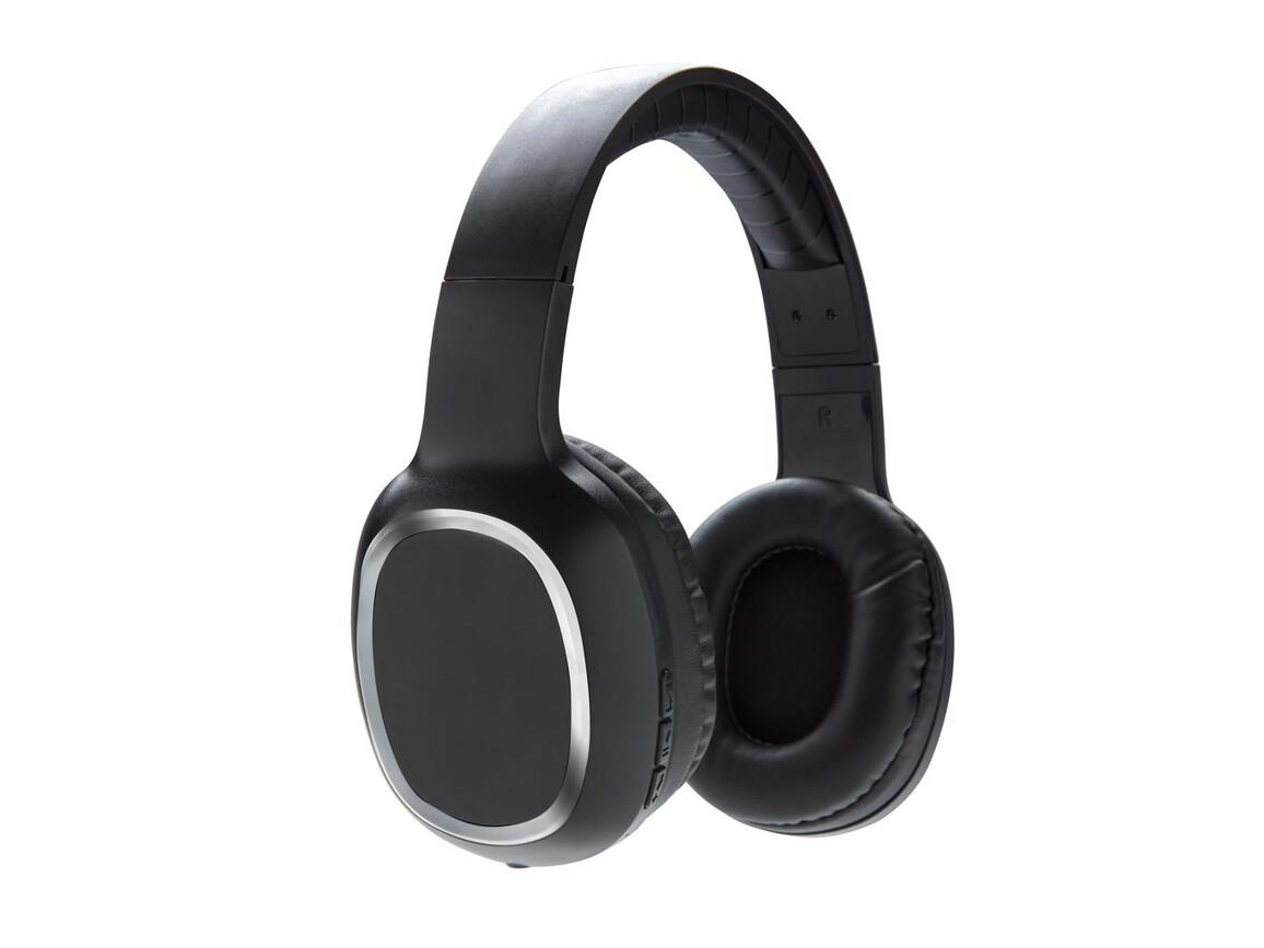 Over-Ear kabelloser Kopfhörer schwarz bedrucken, Art.-Nr. P328.171